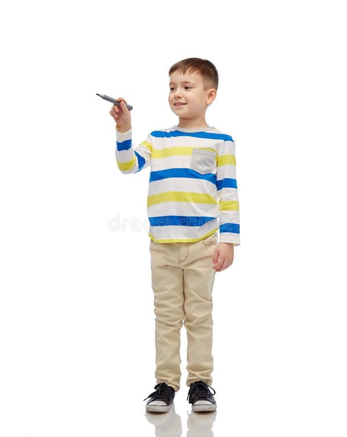 小男孩图画或文字与标志 库存图片
