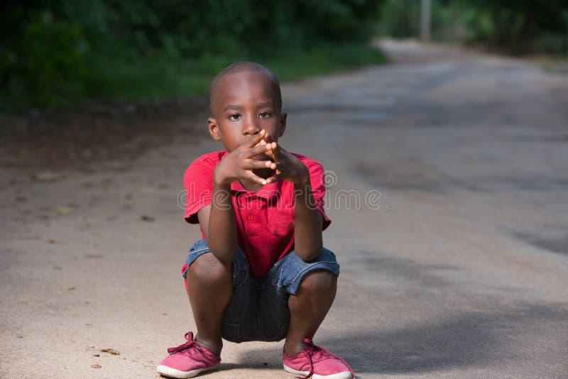 小男孩画象  图库摄影