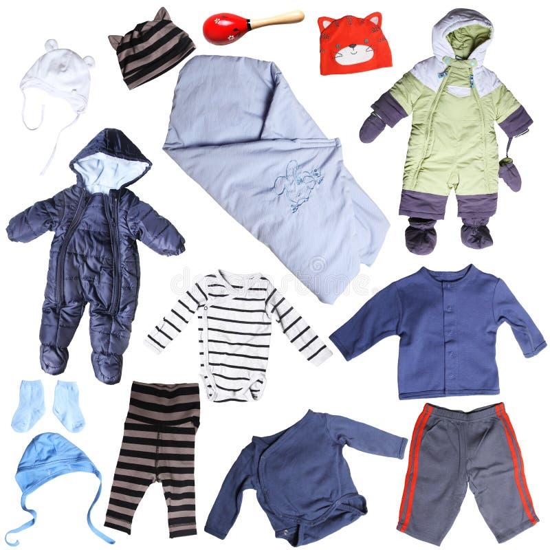 小男婴的衣裳 免版税库存照片