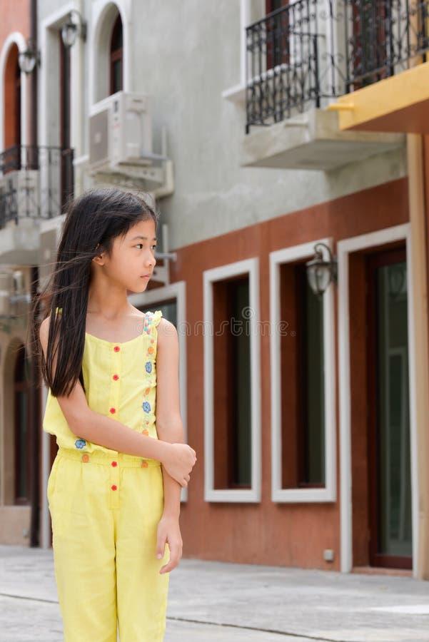 小的亚洲女孩画象 库存照片
