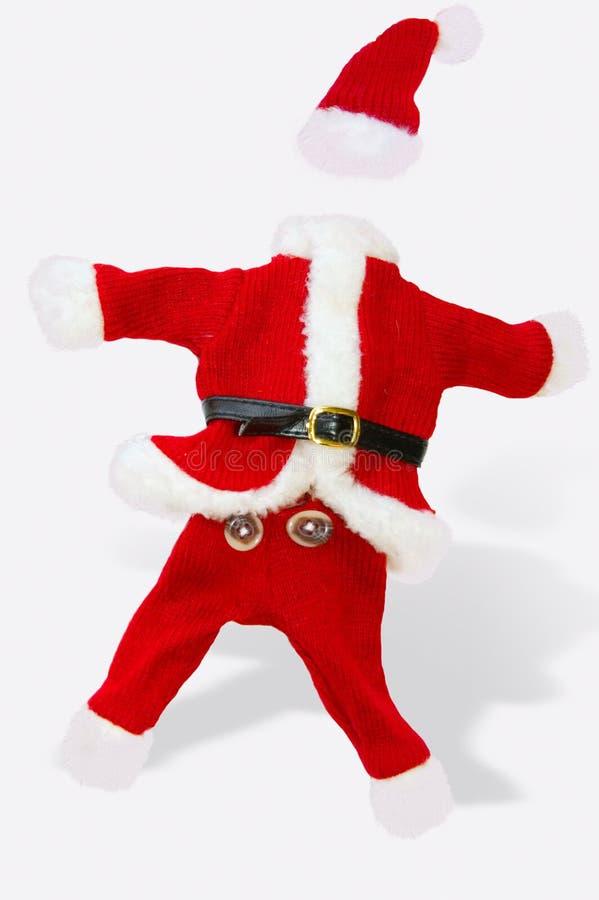 小的圣诞老人诉讼 图库摄影