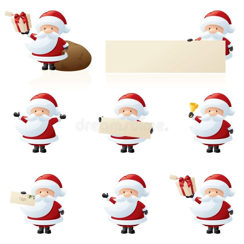 小的圣诞老人 库存例证