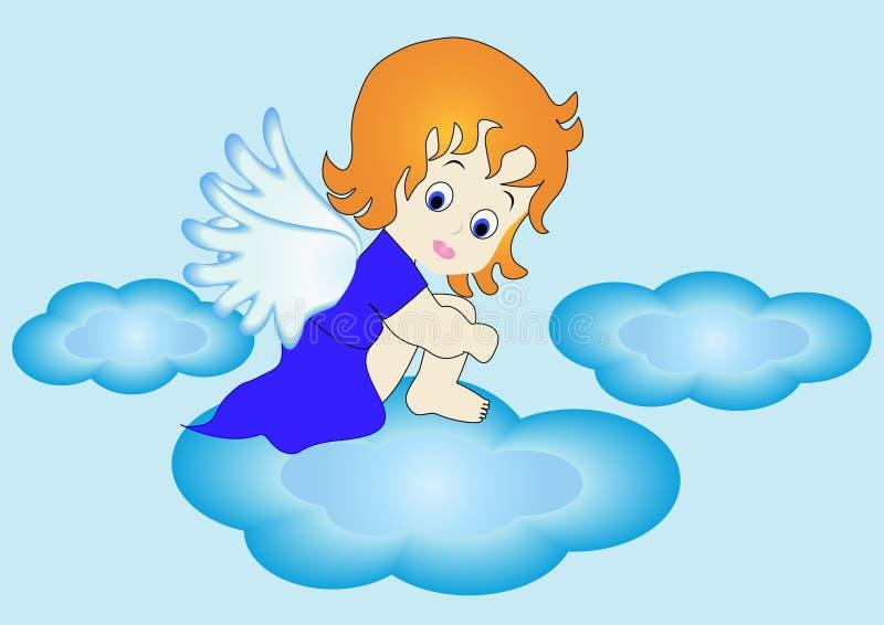 小的天使 向量例证