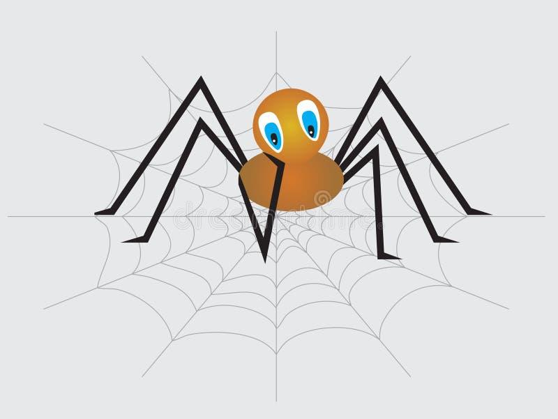 小的孤独的哀伤的蜘蛛 库存例证