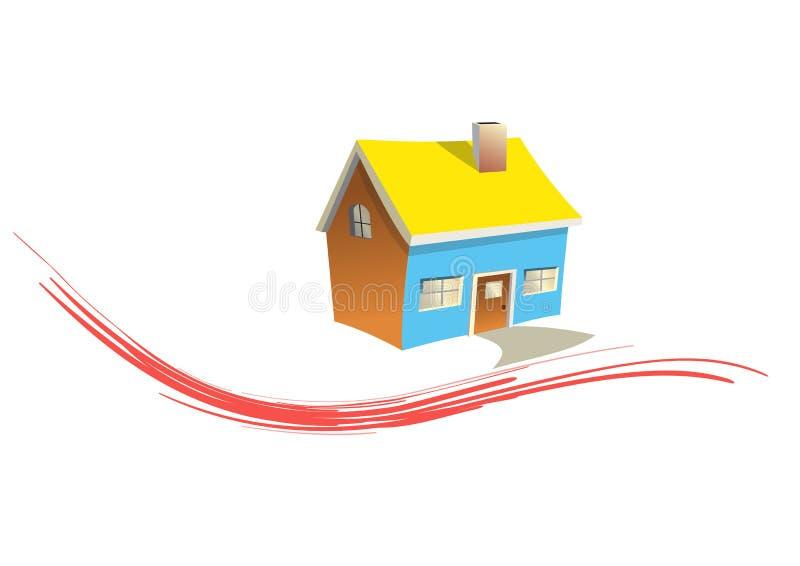 小的房子 库存例证
