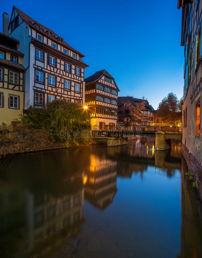 小的法国地区在史特拉斯堡 库存图片