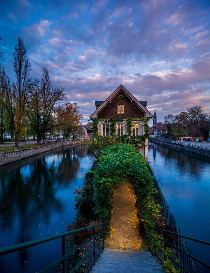 小的法国地区在史特拉斯堡 免版税库存图片