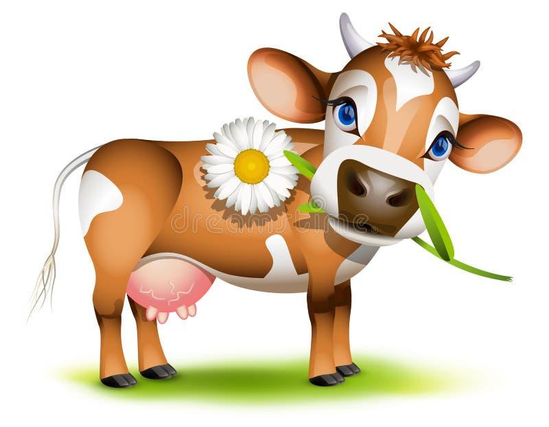 小的泽西母牛 向量例证