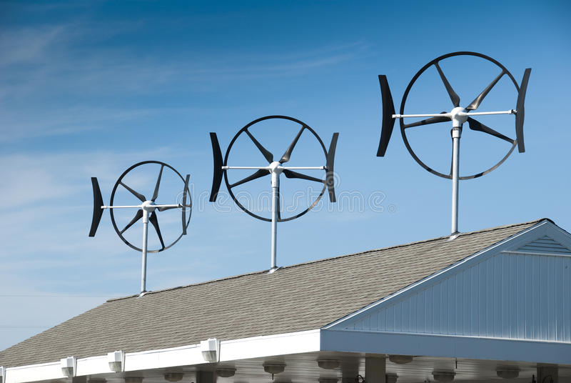 小的涡轮风 免版税库存照片