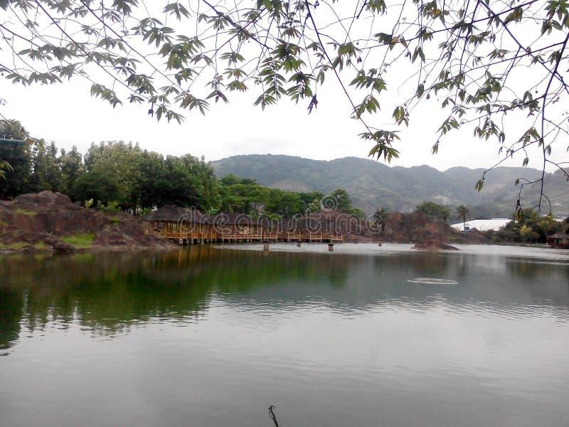 小的湖 库存照片