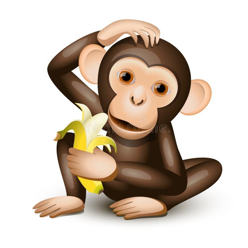 小的猴子 皇族释放例证