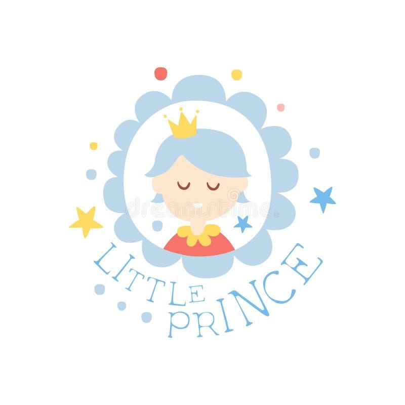 小的王子印刷品,五颜六色的手拉的传染媒介例证 向量例证