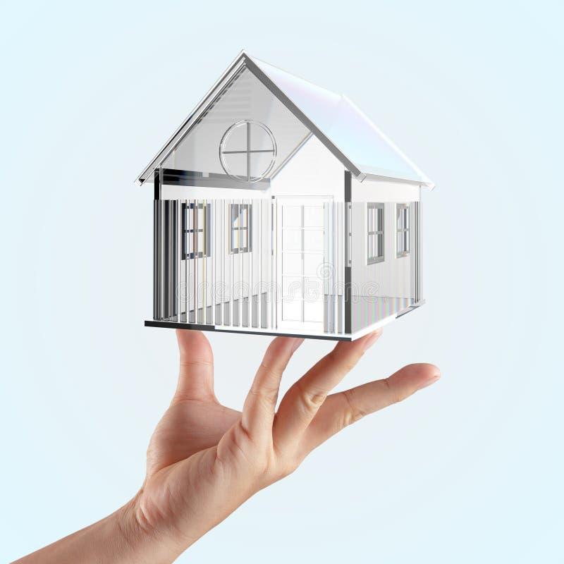 小的玻璃房子 库存图片