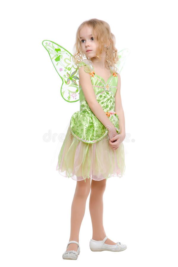 小的神仙的女孩纵向 免版税库存照片
