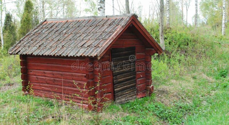 小的红色房子 免版税库存图片