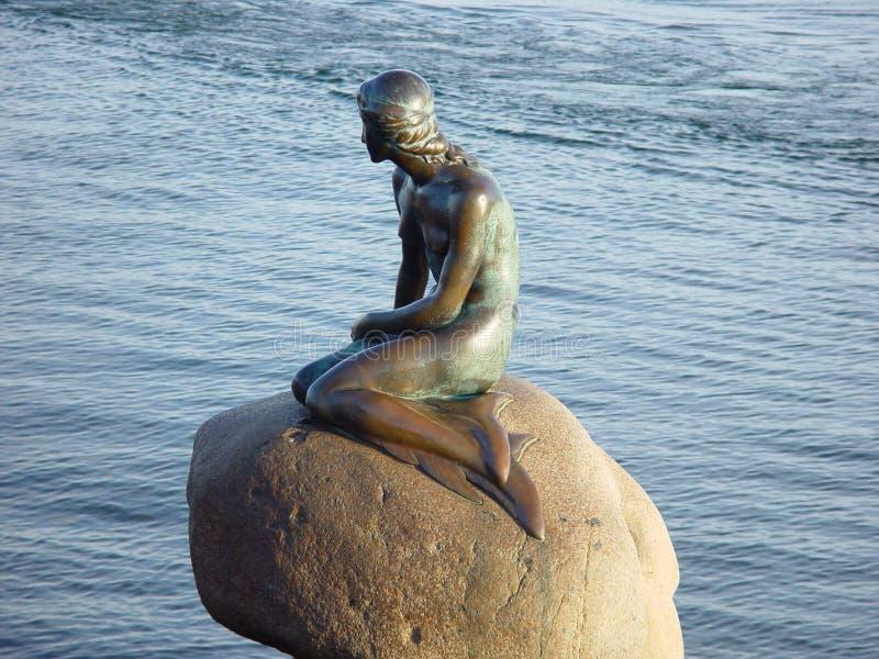 小的美人鱼哥本哈根 免版税图库摄影