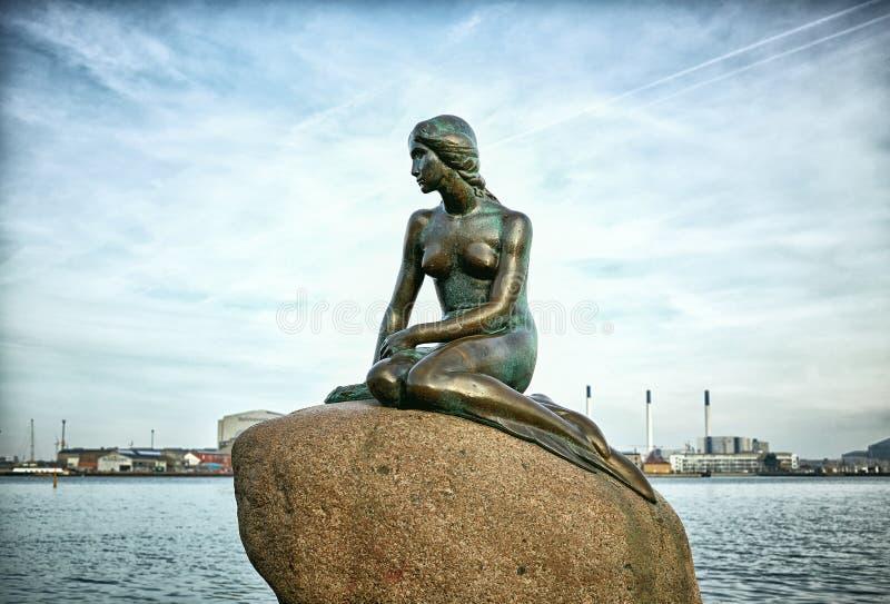 小的美人鱼,哥本哈根,丹麦 免版税库存图片
