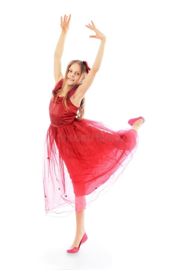 小的美好的女孩跳舞 库存照片