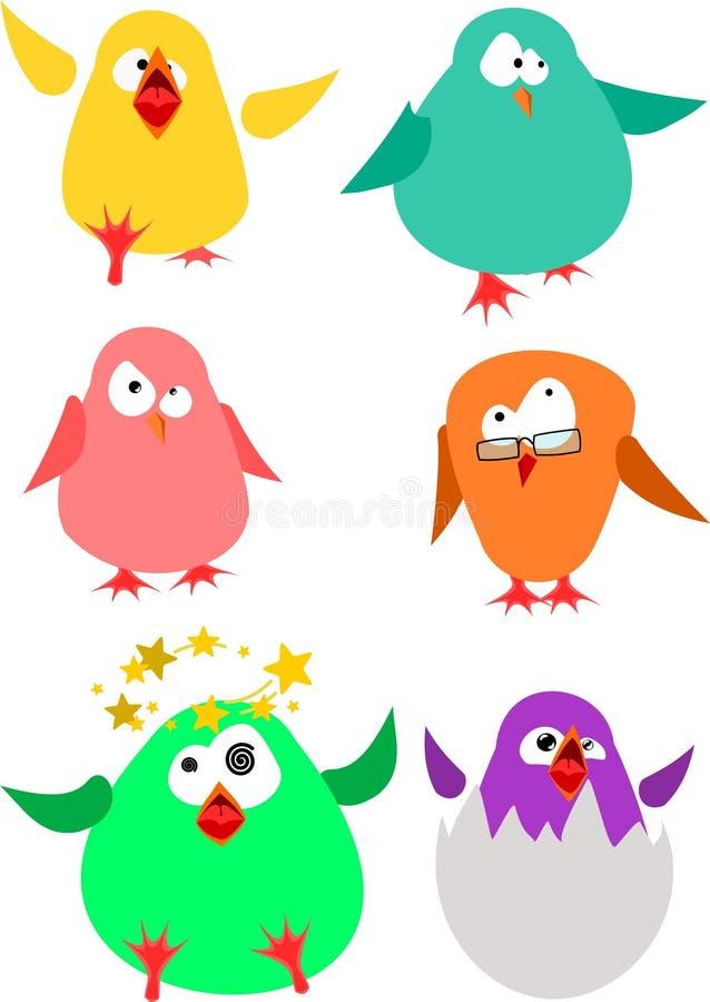 小的肥胖鸟 免版税库存照片