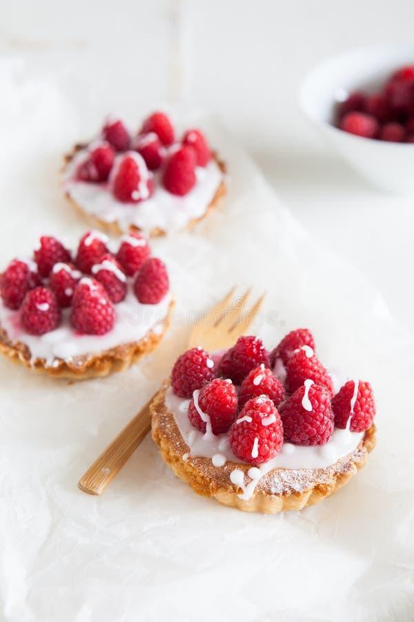小的莓tartlettes 库存照片