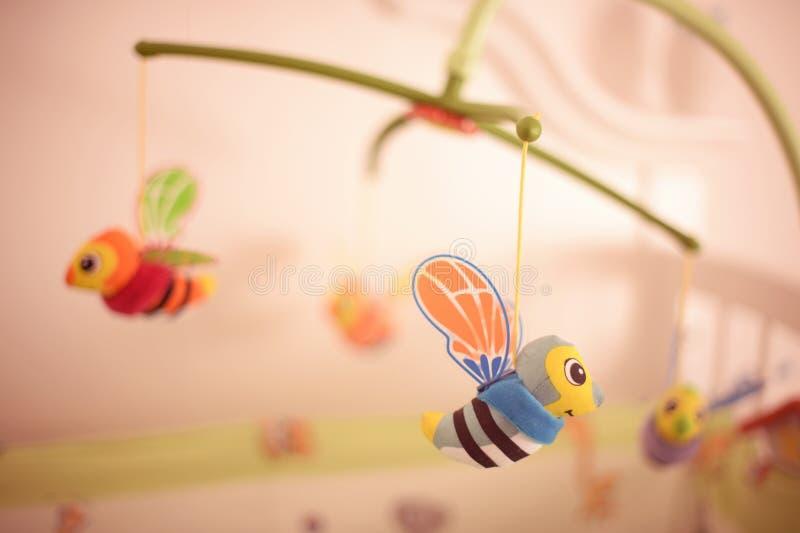 小的蜂玩具 免版税库存图片