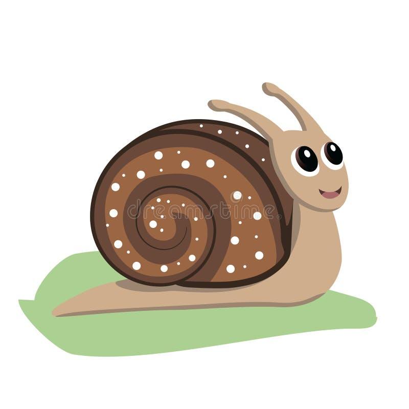 小的蜗牛传染媒介例证 库存例证