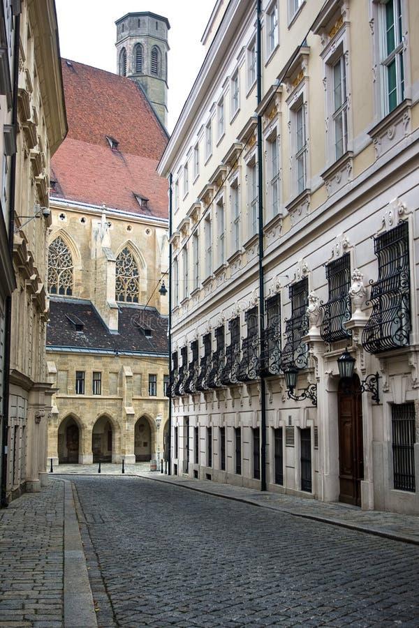 小的街道维也纳 免版税图库摄影
