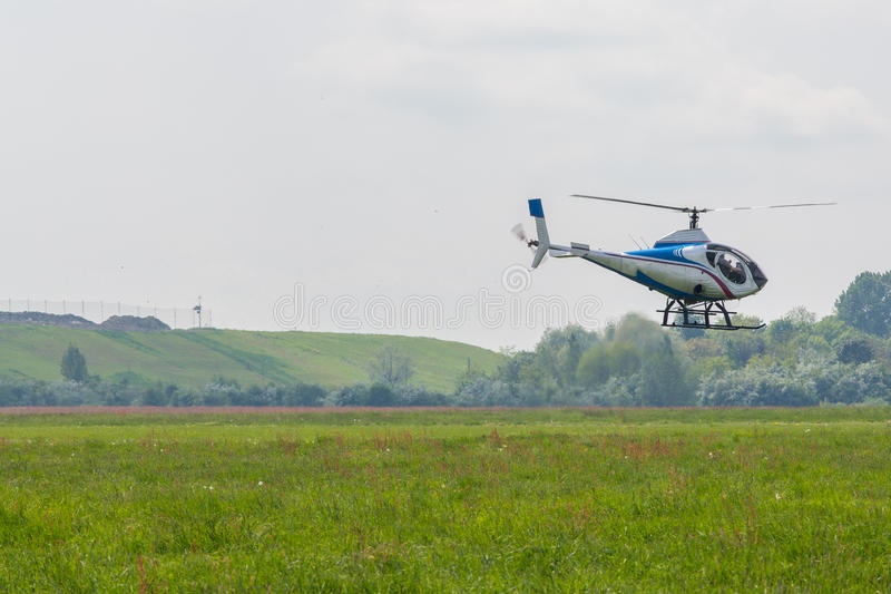 小的直升机 库存照片