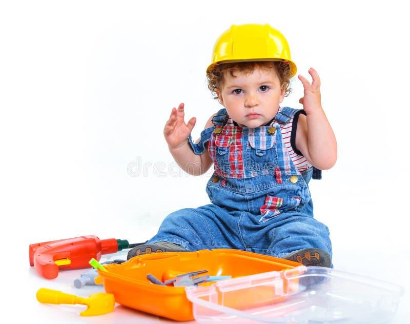 小的建造者。 免版税库存图片