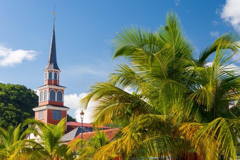 小的Anse d ` Arlet村庄在马提尼克岛 免版税库存图片