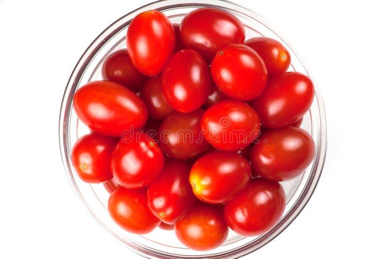 小碗西红柿,顶视图 免版税图库摄影