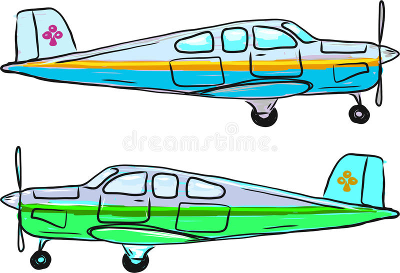 小私有飞机传染媒介剪影例证夹子艺术 皇族释放例证
