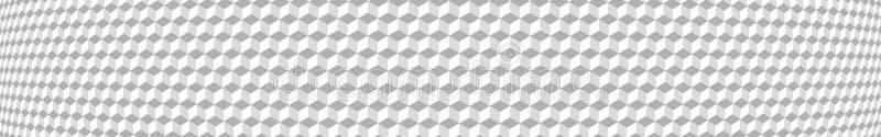 小等量立方体横幅  向量例证