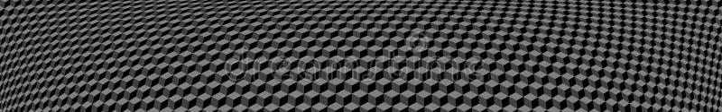 小等量立方体横幅  库存例证