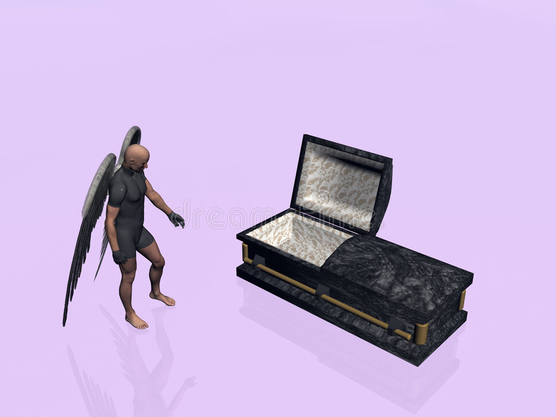 小箱棺材 向量例证