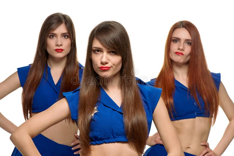 小组三名妇女 免版税图库摄影