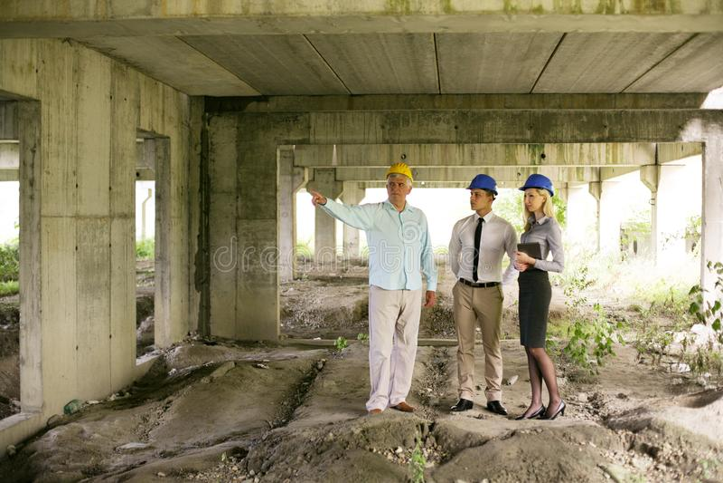 小组专业建筑经理 库存照片