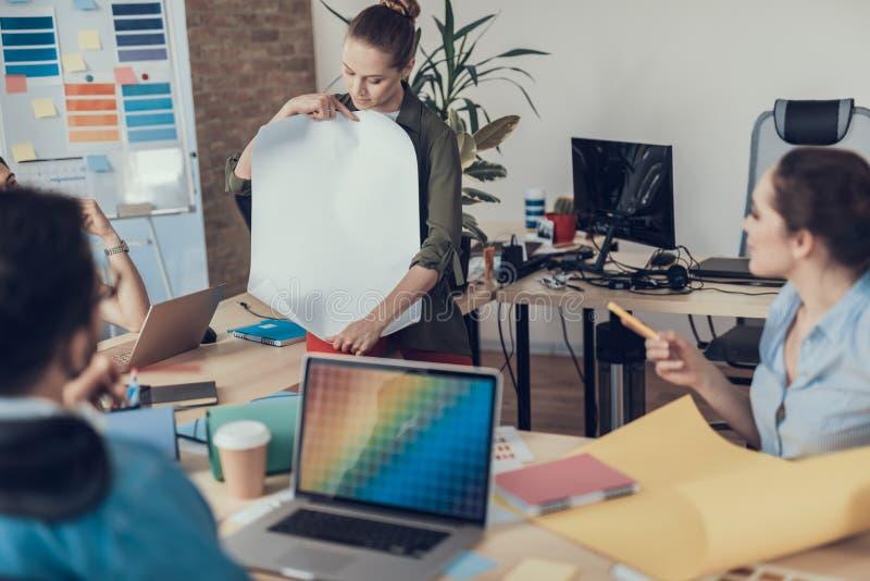 小组专家开发企业战略 库存图片