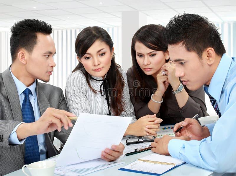 小组业务会议 免版税库存照片