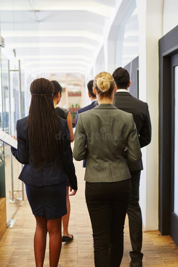 小组商人以一团队 免版税图库摄影