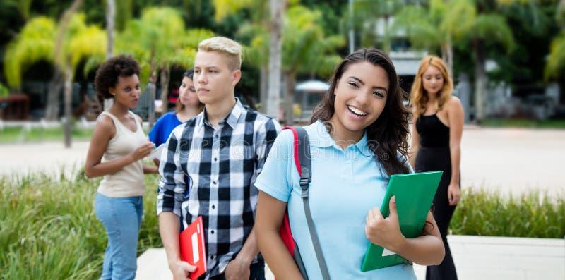小组国际少年学生 免版税库存图片