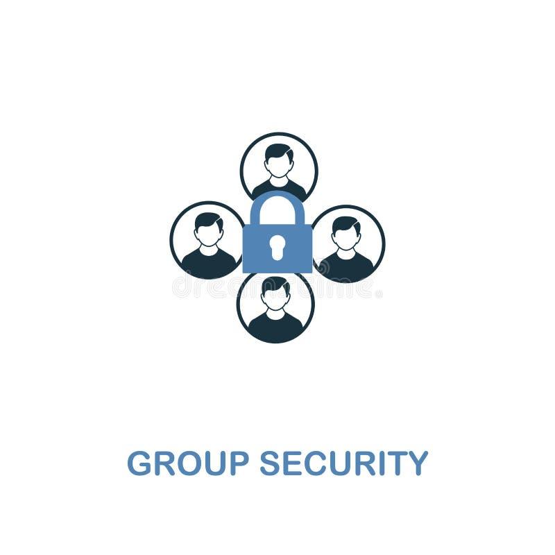 小组在两种颜色的安全象 从互联网安全象汇集的优质设计 映象点完善的简单的图表小组 皇族释放例证