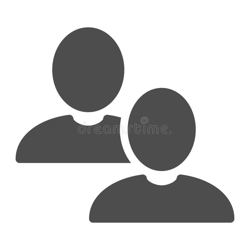 小组坚实象 用户在白色隔绝的传染媒介例证 配合纵的沟纹样式设计,设计为网和应用程序 皇族释放例证