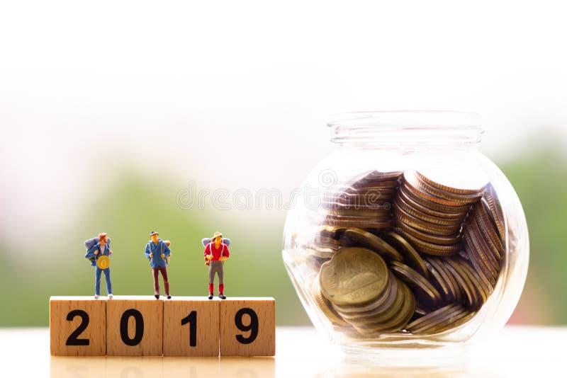 小组旅客微型微型形象和木刻词2019年 免版税库存照片
