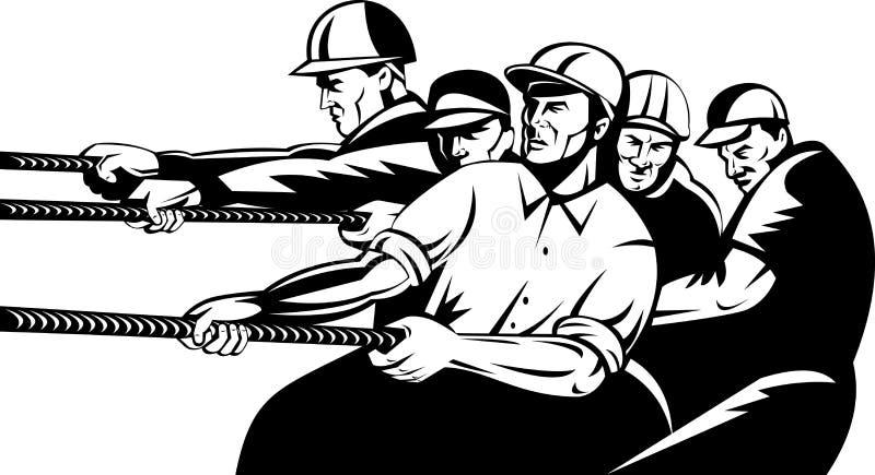 小组猛拉战争工作者 皇族释放例证