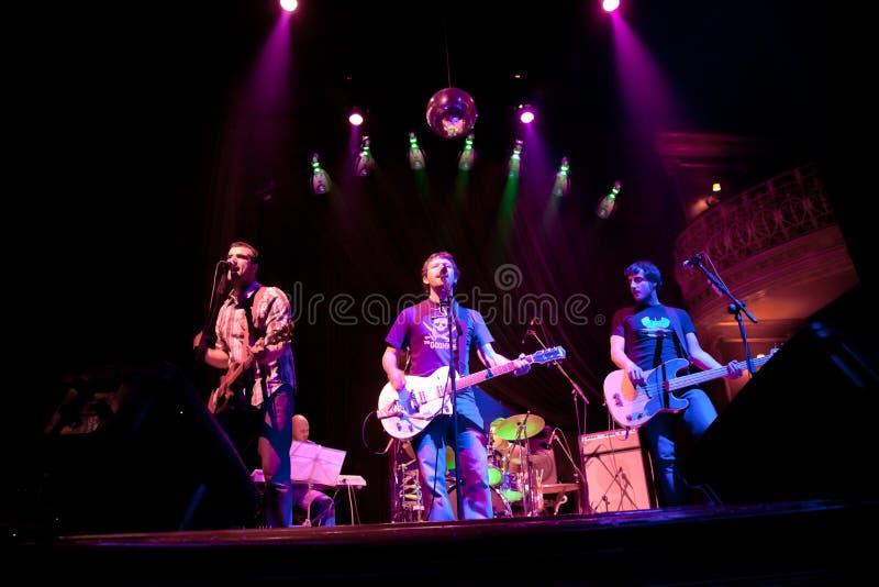 小组的音乐会制片者流行音乐, 2009年4月24日的香宾 图库摄影