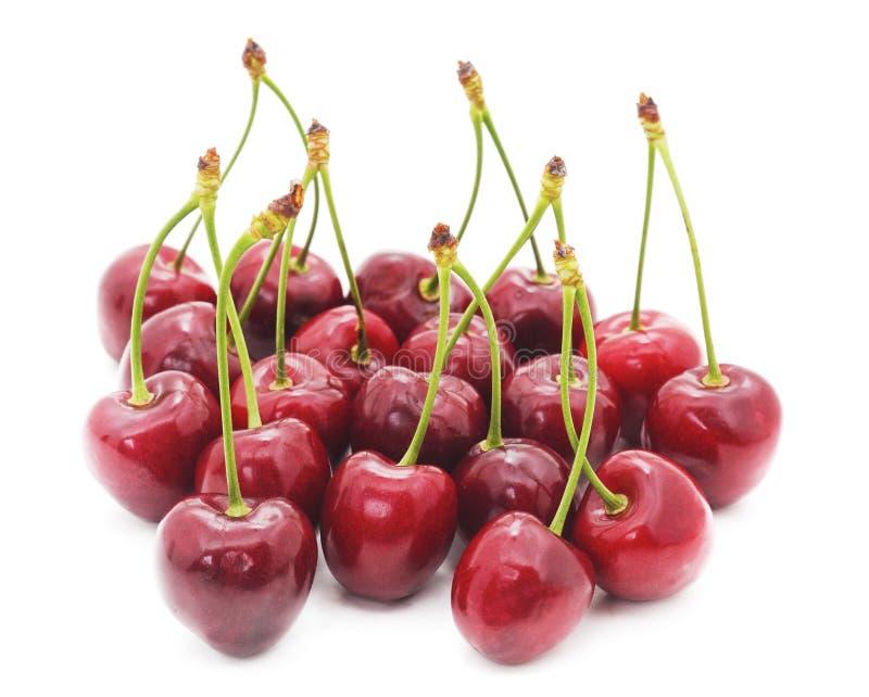 小组红色樱桃 免版税图库摄影