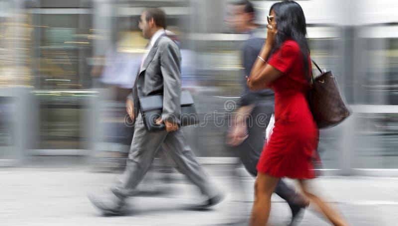 小组街道的商人 免版税库存图片