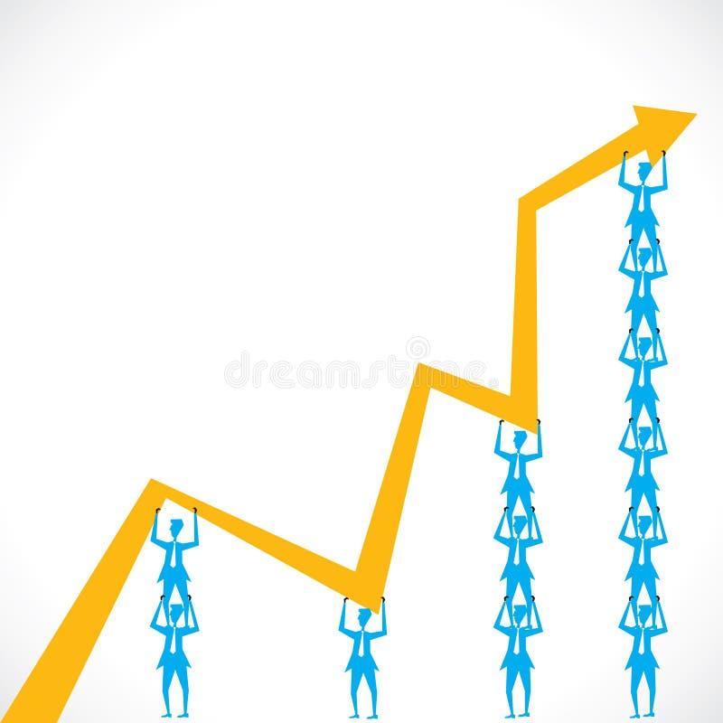 小组设置增长 向量例证