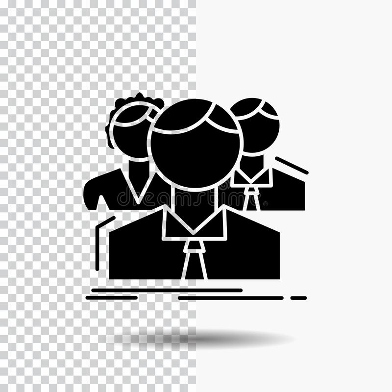 小组,多功能单放机,人们,队,在透明背景的网上纵的沟纹象 ?? 皇族释放例证